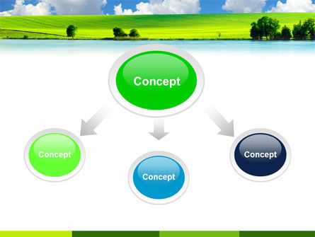 Sunny Landscape PowerPoint Template, Slide 4, 04863, Nature & Environment — PoweredTemplate.com
