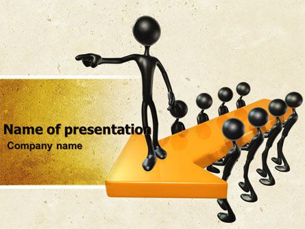 Business Concepts: Specify Direction Of Movement PowerPoint Template #04864
