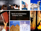 Education & Training: World History PowerPoint Template #04865
