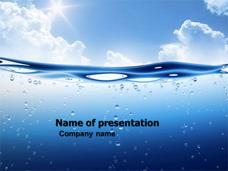 Water Wave PowerPoint Template, 04866, Careers/Industry — PoweredTemplate.com