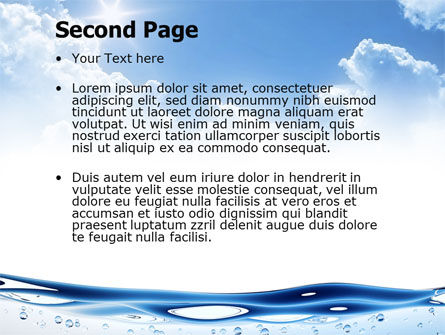 Water Wave PowerPoint Template, Slide 2, 04866, Careers/Industry — PoweredTemplate.com