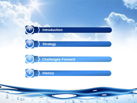 Water Wave PowerPoint Template Slide 3