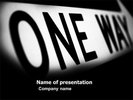 Business Concepts: One Way PowerPoint Template #04868