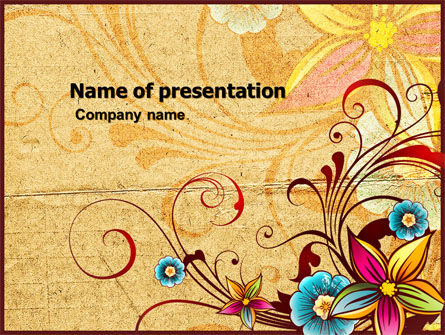 Blossom Pattern PowerPoint Template, 04869, Holiday/Special Occasion — PoweredTemplate.com