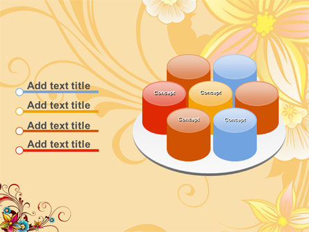 Blossom Pattern PowerPoint Template Slide 12