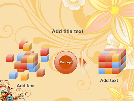 Blossom Pattern PowerPoint Template Slide 17