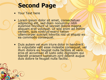 Blossom Pattern PowerPoint Template Slide 2