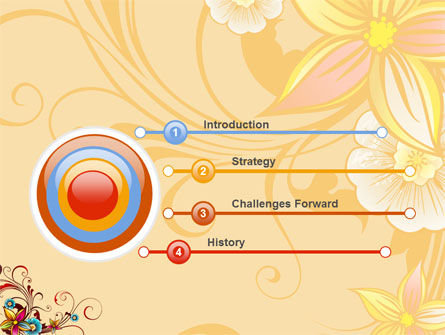 Blossom Pattern PowerPoint Template Slide 3