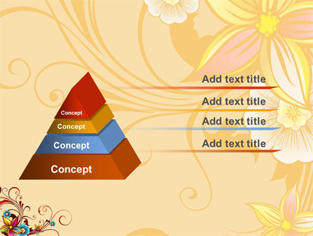 Blossom Pattern PowerPoint Template, Slide 4, 04869, Holiday/Special Occasion — PoweredTemplate.com