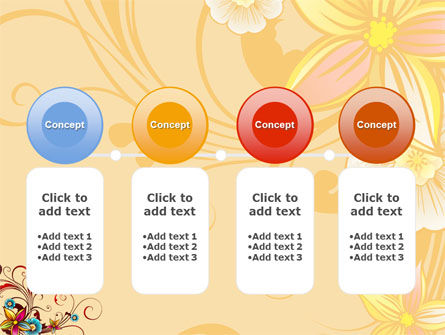 Blossom Pattern PowerPoint Template Slide 5