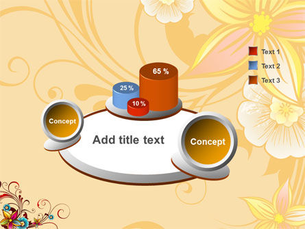 Blossom Pattern PowerPoint Template Slide 6