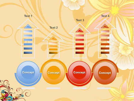 Blossom Pattern PowerPoint Template Slide 7