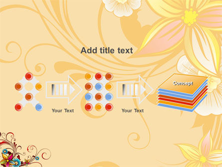 Blossom Pattern PowerPoint Template Slide 9