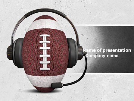 Sports: Sports Announcer PowerPoint Template #04870