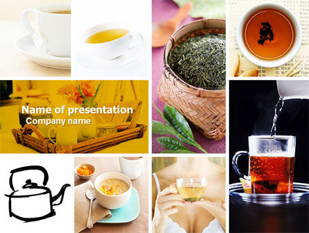 Food & Beverage: Tea Collage PowerPoint Template #04871