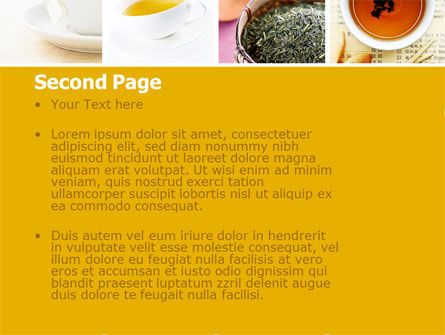 Tea Collage PowerPoint Template Slide 2