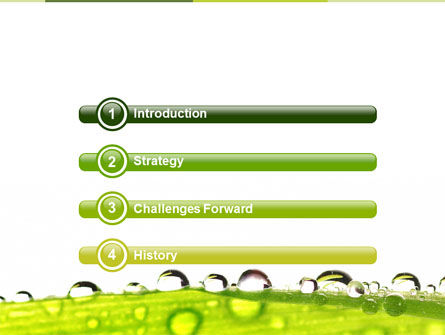Dew PowerPoint Template, Slide 3, 04872, Nature & Environment — PoweredTemplate.com