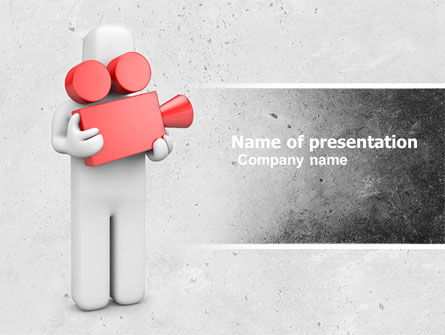 Careers/Industry: Cameraman PowerPoint Template #04873
