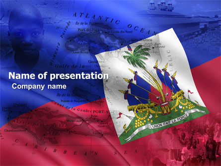 Flags/International: Haiti PowerPoint Template #04875