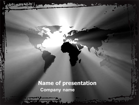 World Light PowerPoint Template, 04876, Global — PoweredTemplate.com