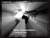 Global: World Light PowerPoint Template #04876