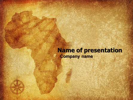 africa powerpoint template, backgrounds | 04877 | poweredtemplate, Modern powerpoint