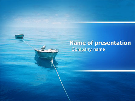 Nature & Environment: Motor Boats PowerPoint Template #04880