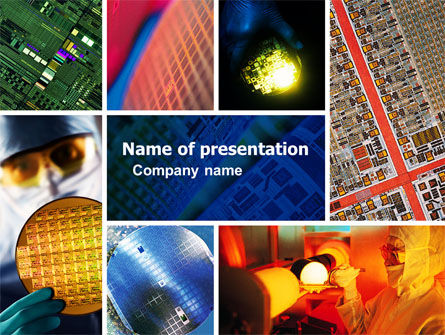 Technology and Science: Computer Wafer PowerPoint Template #04882