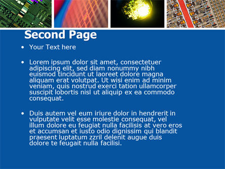 Computer Wafer PowerPoint Template, Slide 2, 04882, Technology and Science — PoweredTemplate.com