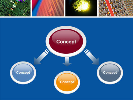 Computer Wafer PowerPoint Template, Slide 4, 04882, Technology and Science — PoweredTemplate.com
