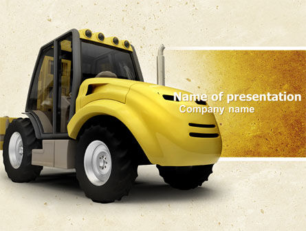 Loader PowerPoint Template, 04884, Cars and Transportation — PoweredTemplate.com