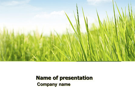Green Grass Under Blue Sky PowerPoint Template