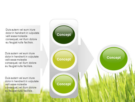 Green Grass Under Blue Sky PowerPoint Template Slide 11