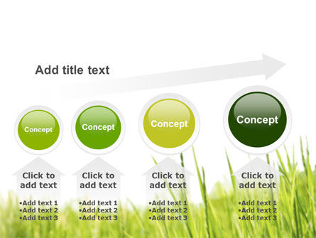Green Grass Under Blue Sky PowerPoint Template Slide 13