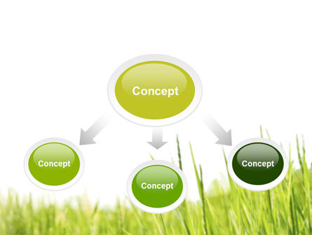 Green Grass Under Blue Sky PowerPoint Template Slide 4