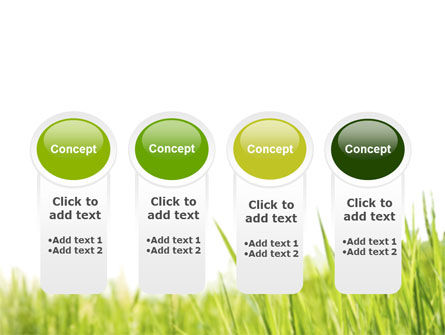 Green Grass Under Blue Sky PowerPoint Template Slide 5