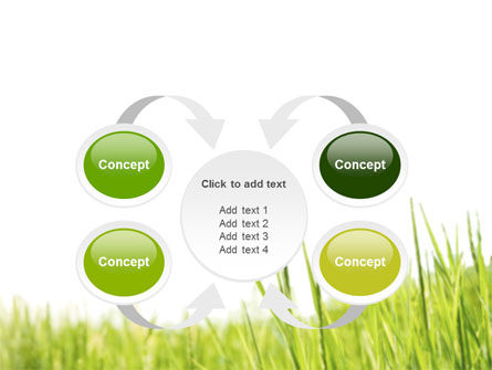 Green Grass Under Blue Sky PowerPoint Template Slide 6