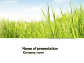 Nature & Environment: Green Grass Under Blue Sky PowerPoint Template #04885