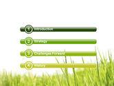 Green Grass Under Blue Sky PowerPoint Template#3