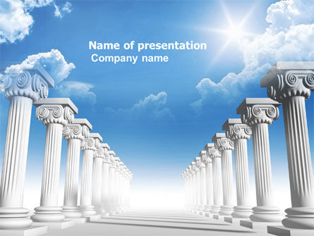 Ionic Columns PowerPoint Template, 04887, Careers/Industry — PoweredTemplate.com