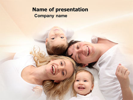 People: Lucky Family PowerPoint Template #04888