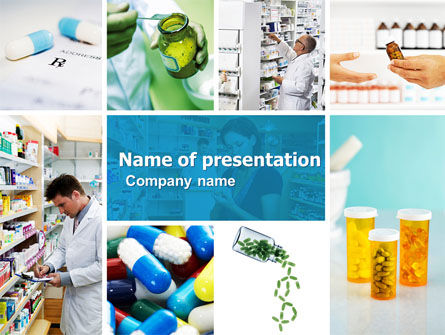 Medical: Pharmacy Collage PowerPoint Template #04889