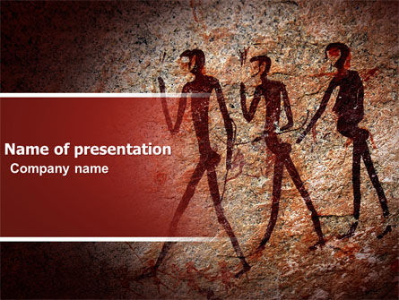 Technology and Science: Rock Art PowerPoint Template #04890