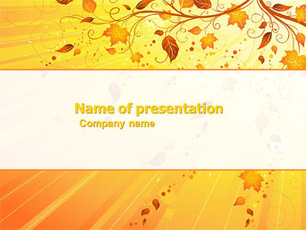 Sunny Autumn PowerPoint Template