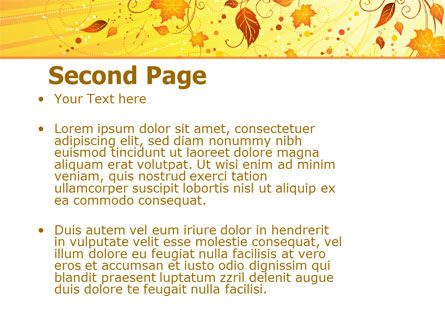 Sunny Autumn PowerPoint Template Slide 2