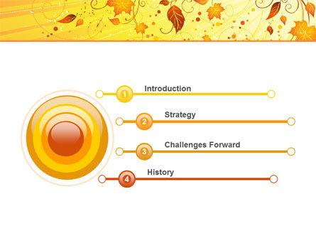 Sunny Autumn PowerPoint Template, Slide 3, 04891, Abstract/Textures — PoweredTemplate.com