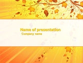 Abstract/Textures: Sunny Autumn PowerPoint Template #04891