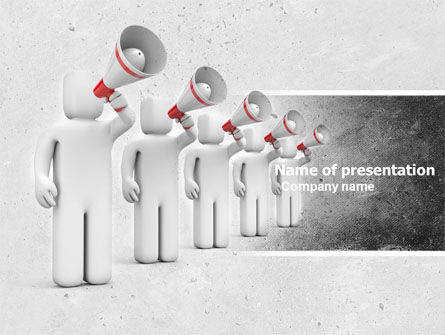 Business Concepts: Megaphone PowerPoint Template #04892