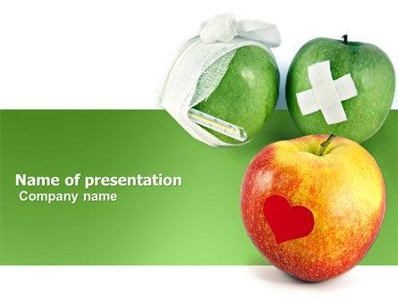 Vitamin Treatment PowerPoint Template, 04895, Medical — PoweredTemplate.com