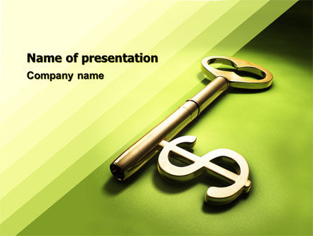 Financial Key PowerPoint Template, 04896, Financial/Accounting — PoweredTemplate.com